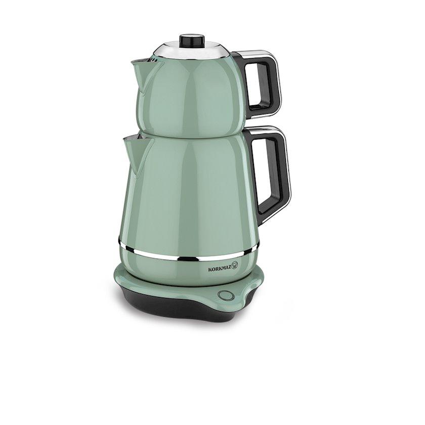 Elektrik çaydan Korkmaz A332-01 Demiks Electrical Tea Pot Set, yaşıl