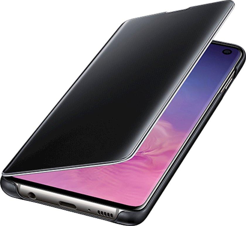 Çexol Samsung Clear View Cover Samsung Galaxy S10 üçün Black