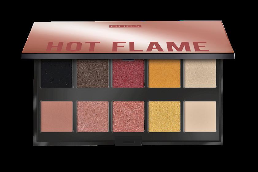 Göz kölgəsi dəsti Pupa Make Up Stories Palette, 002 Hot Flame