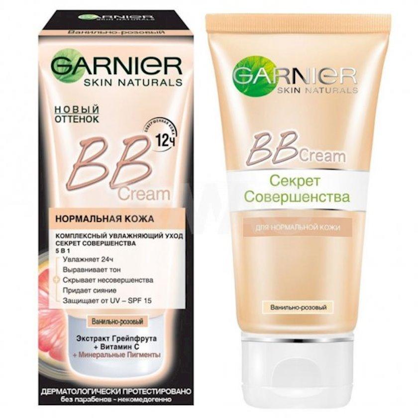 BB-krem normal dəri üçün Garnier Skin Naturals Mükəmməliyin sirri Vanilli çəhrayı 50 ml