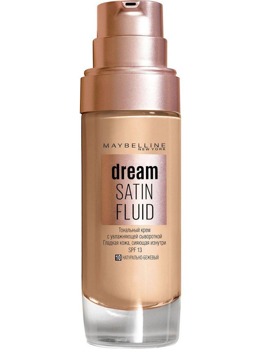 Tonal krem-flüid Maybelline New York Dream Satin Fluid çalar 10 Təbii bej 30 ml