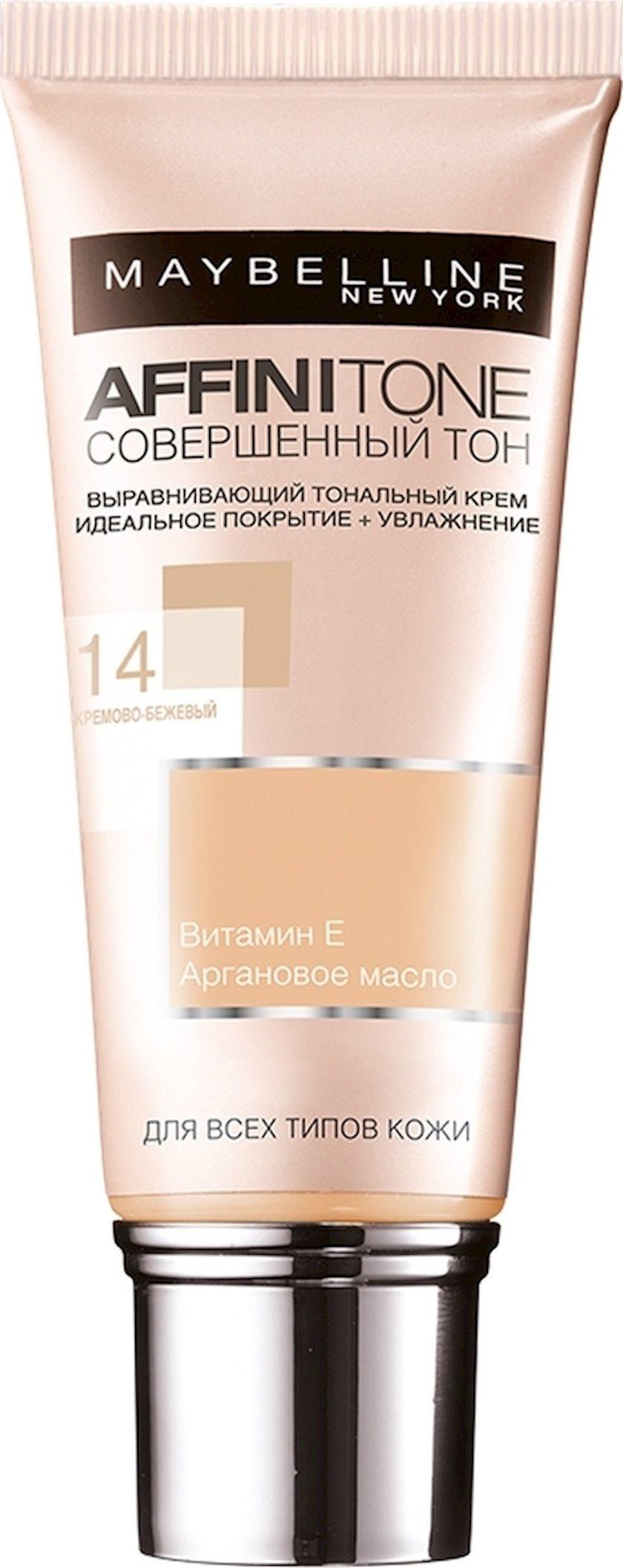 Tonal krem Maybelline Affinitone Mükəmməl Ton 14 Kremli bej 30 ml