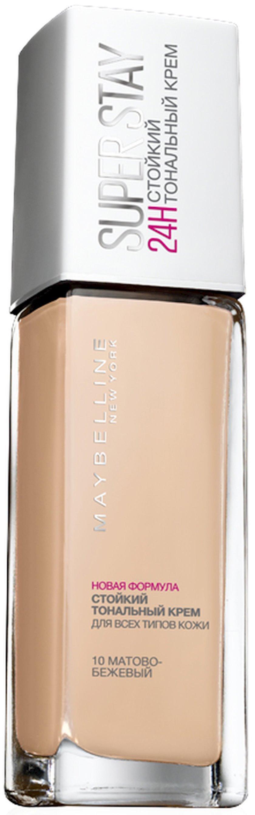 Tonal krem Maybelline New York SuperStay 24H çalar 10 Mat bej 30 ml