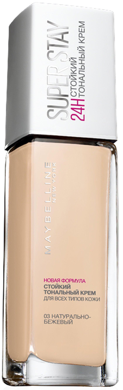 Tonal krem Maybelline New York SuperStay 24H çalar 03 Təbii bej 30 ml
