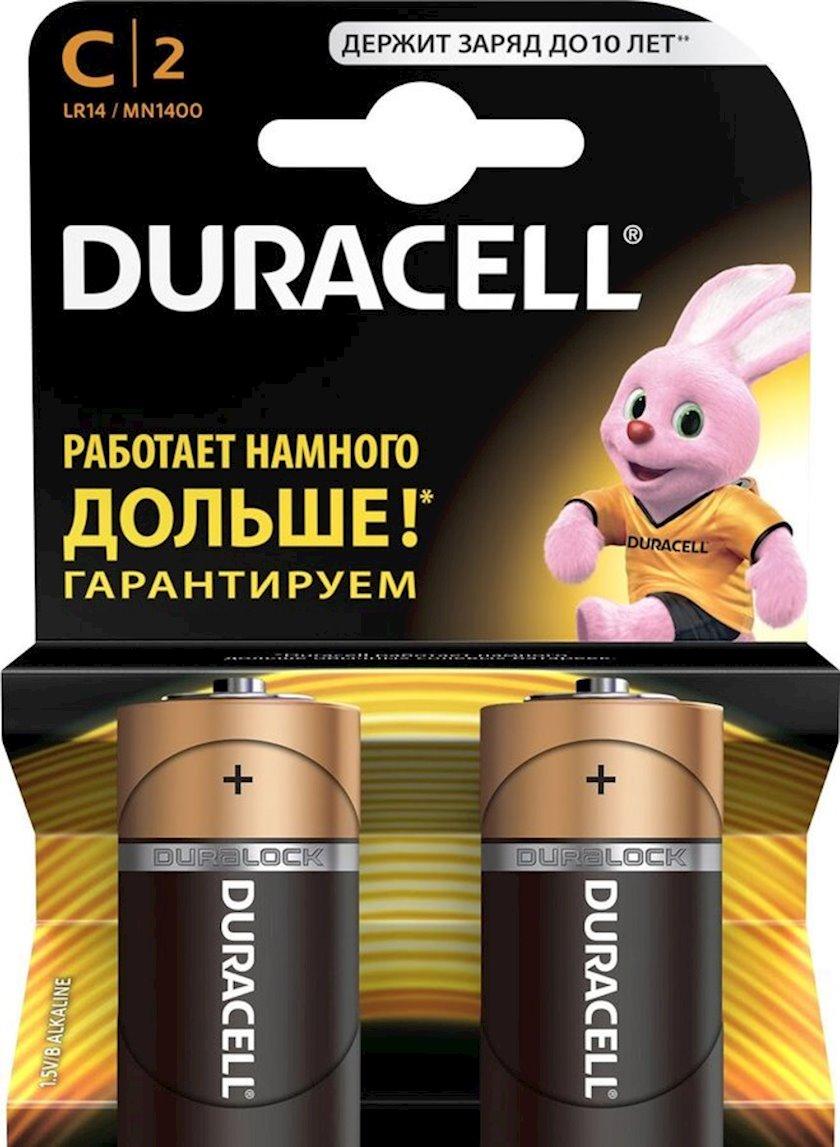Batareya Duracell Basic C (LR14) MN1400, 1.5V, 2 əd, 146 q