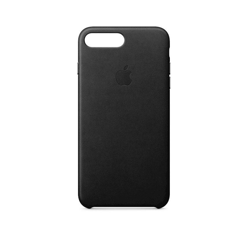 Çexol Leather Case Apple iPhone 8 Plus / 7 Plus üçün  Black