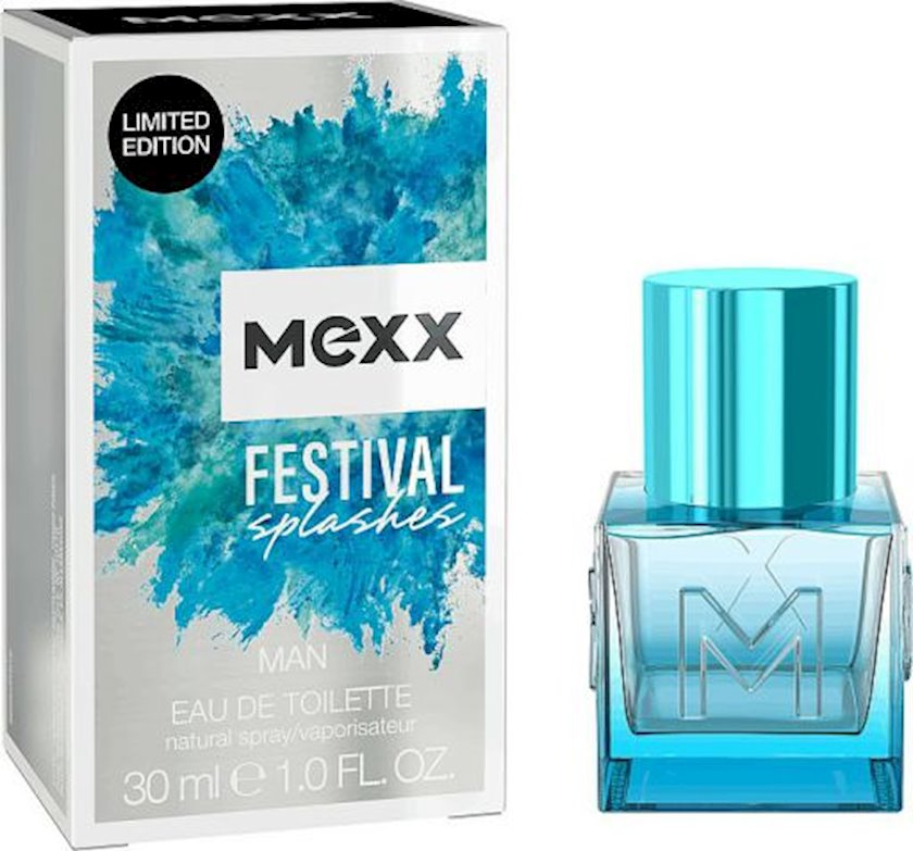 Kişilər üçün tualet suyu Mexx Festival Splashes Man 30ml