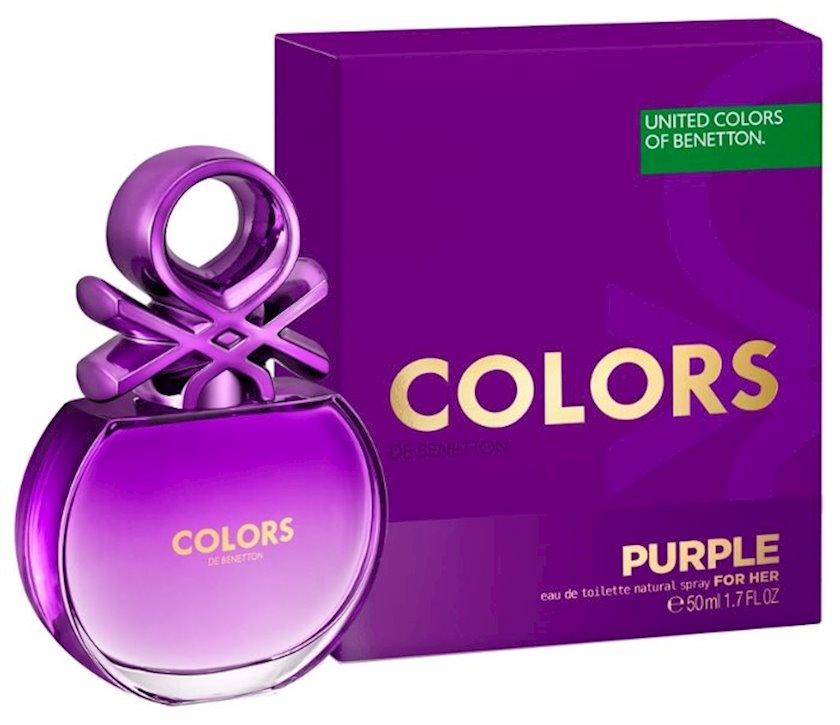Qadınlar üçün tualet suyu United Colors of Benetton Purple 50ml