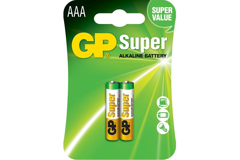 Batareya GP AAA 1.5V (LR03) Super Alkaline 24A-U2   2 əd