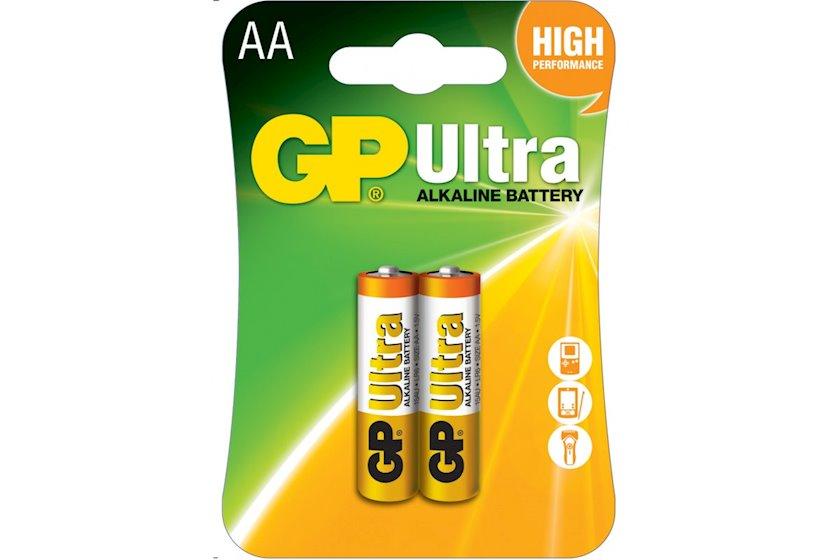 Batareya GP AA 1.5V (LR6) Ultra Alkaline 15AU-U2 2 əd