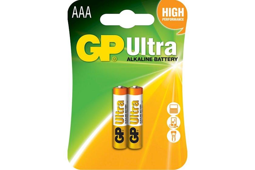 Batareya GP AAA 1.5V (LR03) Ultra Alkaline 24AU-U2 2 əd