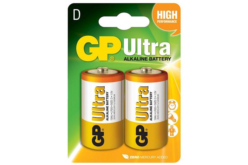 Batareya GP D (LR20) Ultra Alkaline 13AU-U2 2 əd