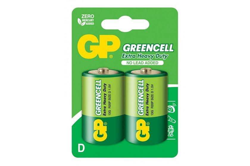 Batareya GP Greencell 13G-U2, R20, D, 1.5V 2 əd