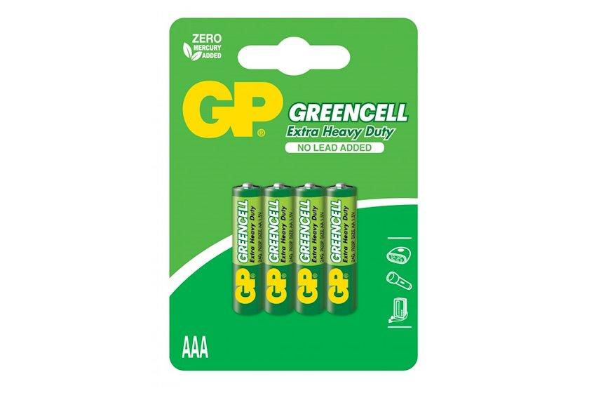 Batareya GP Greencell 24G-U4, R3, ААА, 1.5V 4 əd