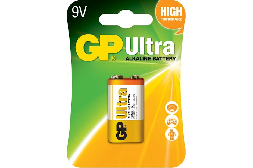 Batareya GP 6LF22 (крона) Ultra Alkaline 1604AU-U1 1 əd