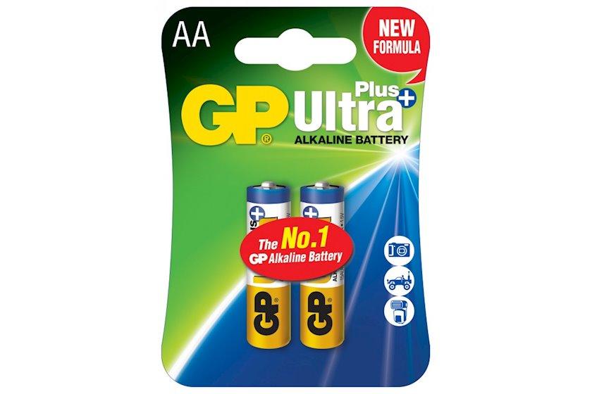 Batareya GP AA (LR6) Ultra Plus Alkaline 15AUP-U2 2 əd