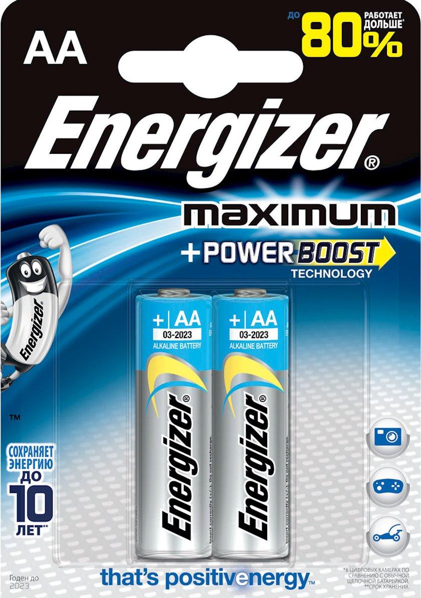 "Batareya Energizer ""Maximum"", тип  LR6 AA, 1, 5V 2 əd"