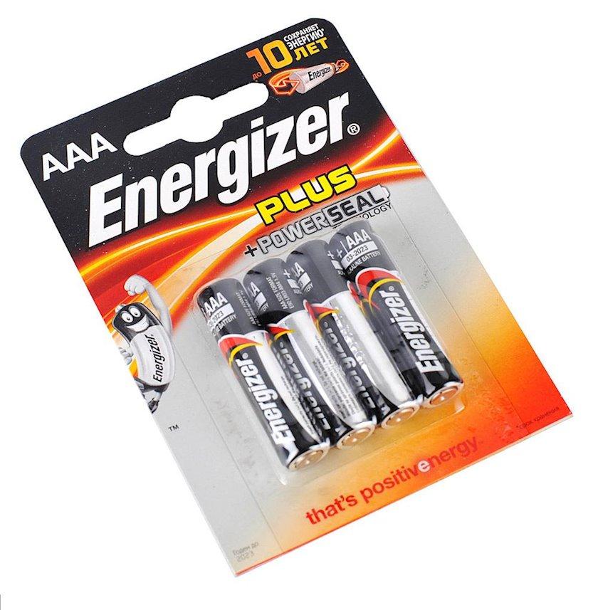 Batareya Energizer Plus AAA (LR03) FSB4 4 əd