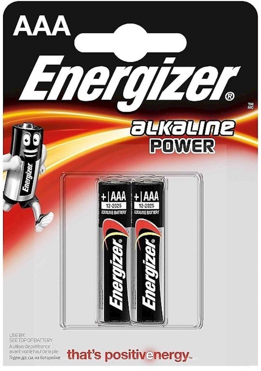 Batareya Energizer Alkaline Power AAA 2 əd