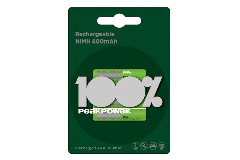 Enerji toplaya bilən batareya GP 100% PeakPower 80AAAHC-UC4, 1.2V 4 əd