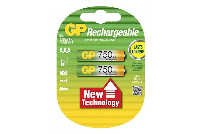 Enerji toplaya bilən batareya GP Professional 75AAAHC-U2, 1.2V 2 əd