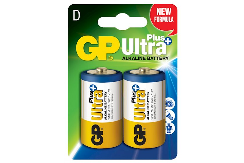 Batareya GP D (LR20) Ultra Plus Alkaline 13AUP-U2, 2 əd