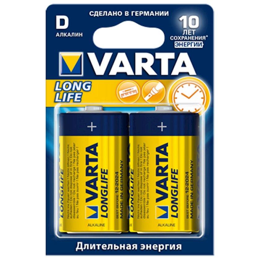 Batareya Varta Longlife Extra D LR20, 2 əd