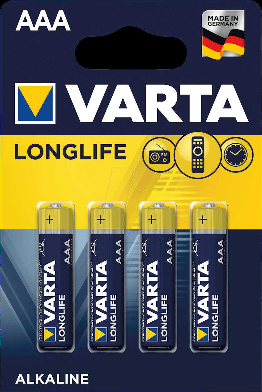 Batareya Varta Longlife Extra LR03 AAA, 4 əd