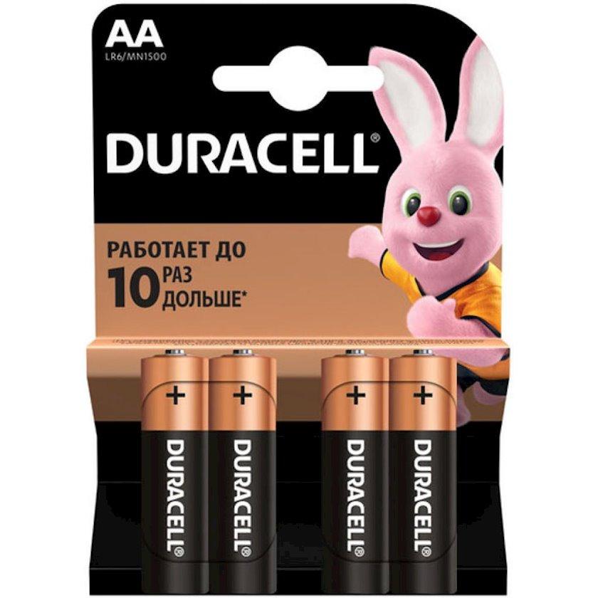 Batareya Duracell Basic LR06 AA MN1500, 4 əd