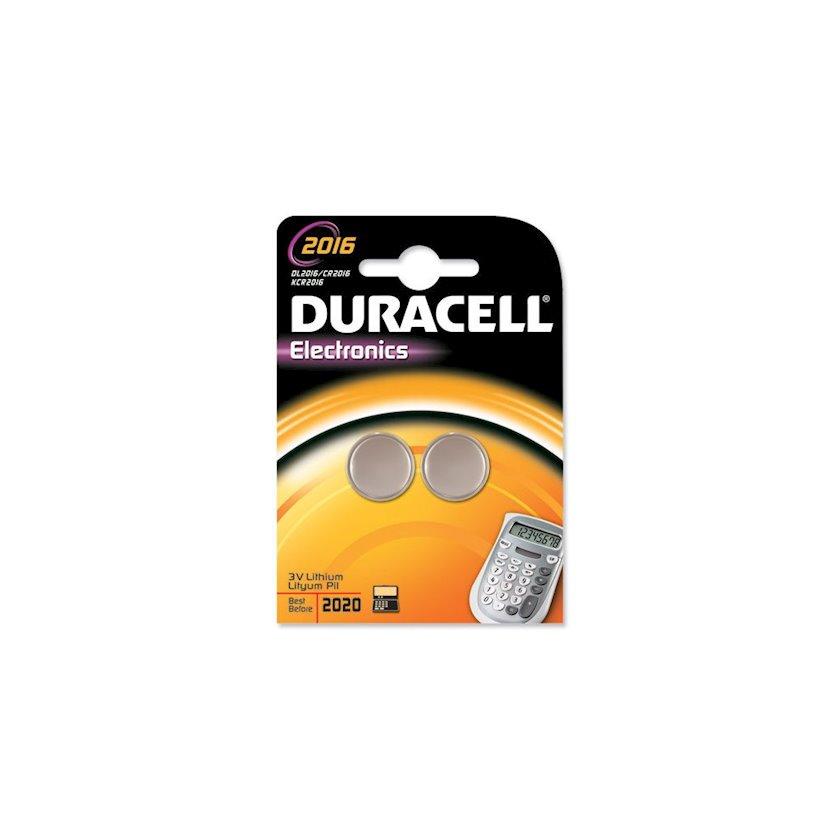 Batareya Duracell DLCR2016B2 Lithium Coin Cell Battery, 2 əd
