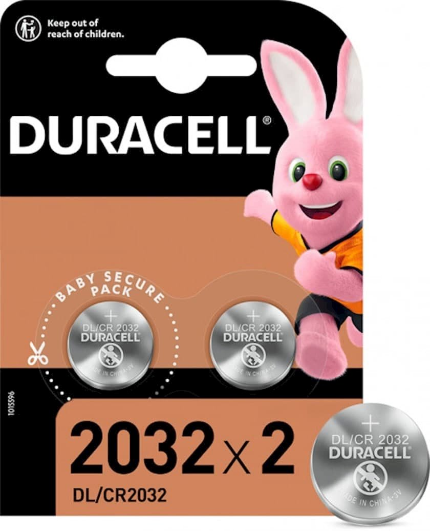 Batareya Duracell Specialty DLCR2032 3V, 2 əd