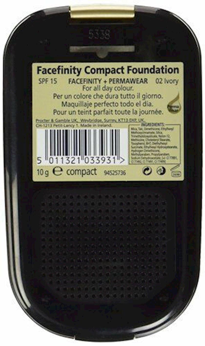 Kompakt kirşan Max Factor Facefinity Compact Foundation İvory 02