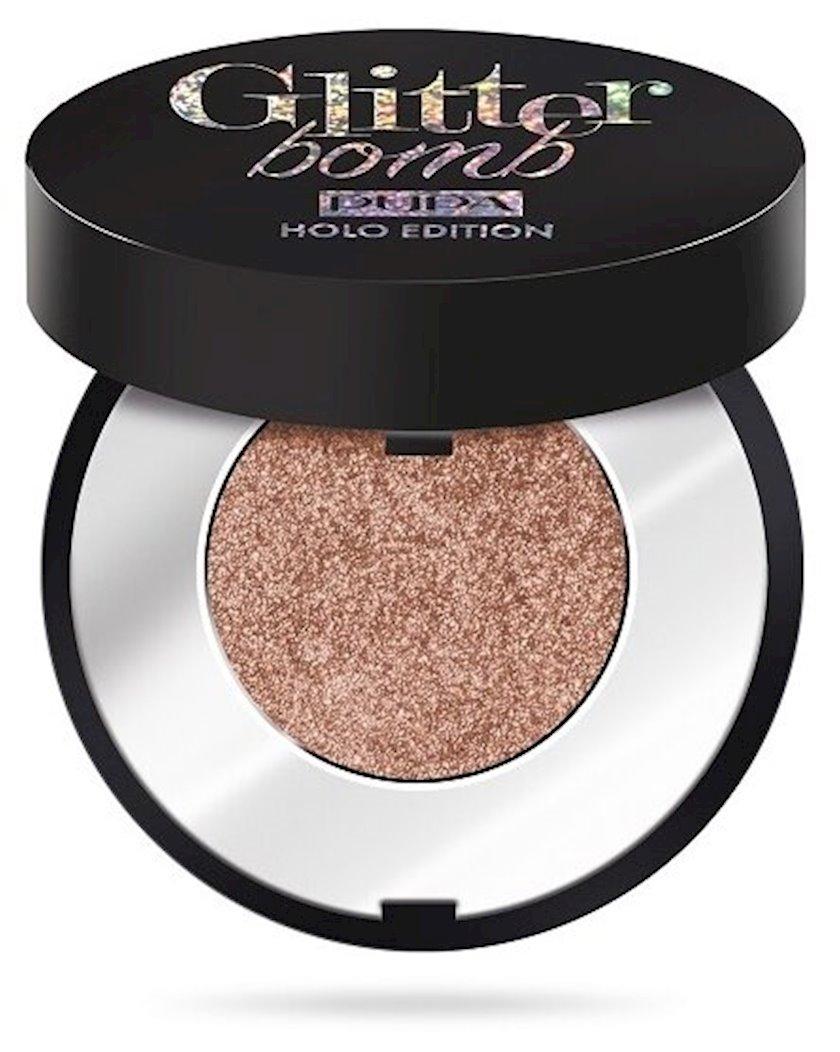 Göz kölgəsi Pupa Glitter Bomb Holo Edition, 004 Crystallized bronze