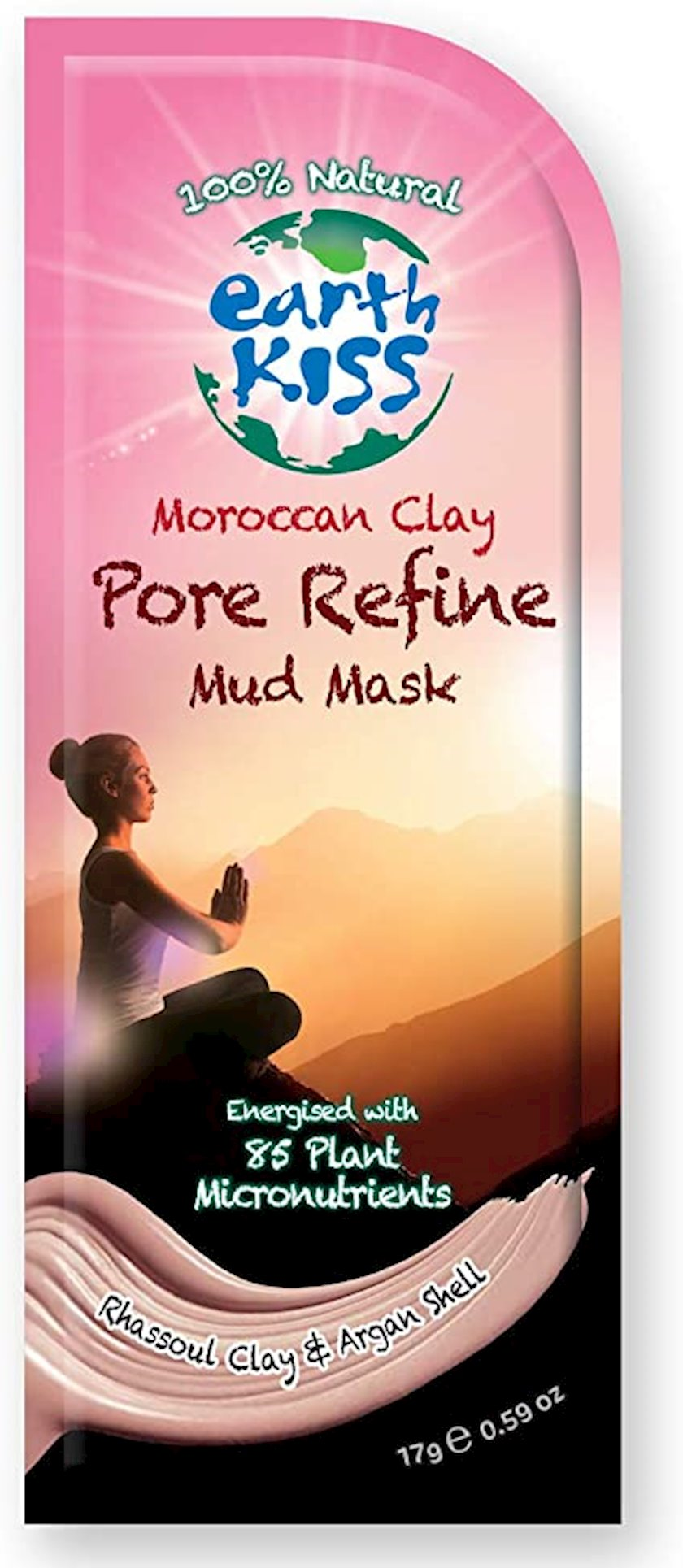 Palçıq maskası Earth Kiss Moroccan Clay Pore Refine Mud Mask 17 q
