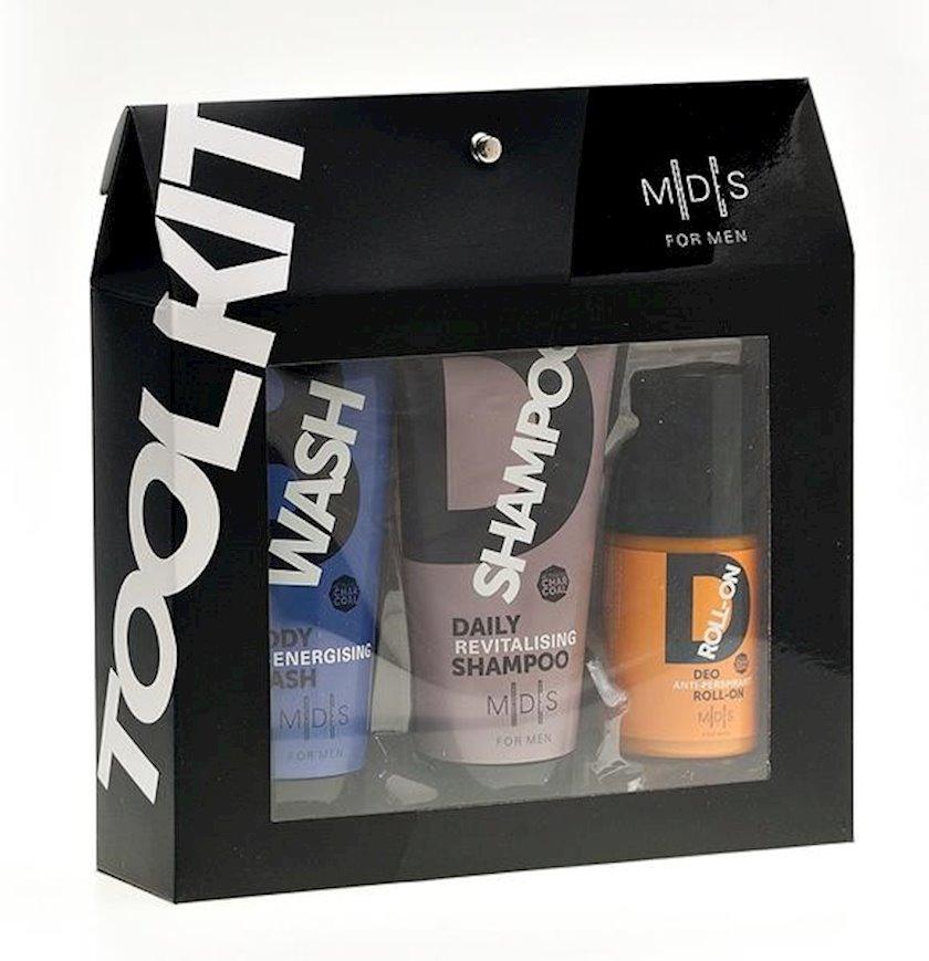 Dəst M│D│S For Men  bədən üçün gel 150 ml + şampun 150 ml + roll deodorant 100 ml