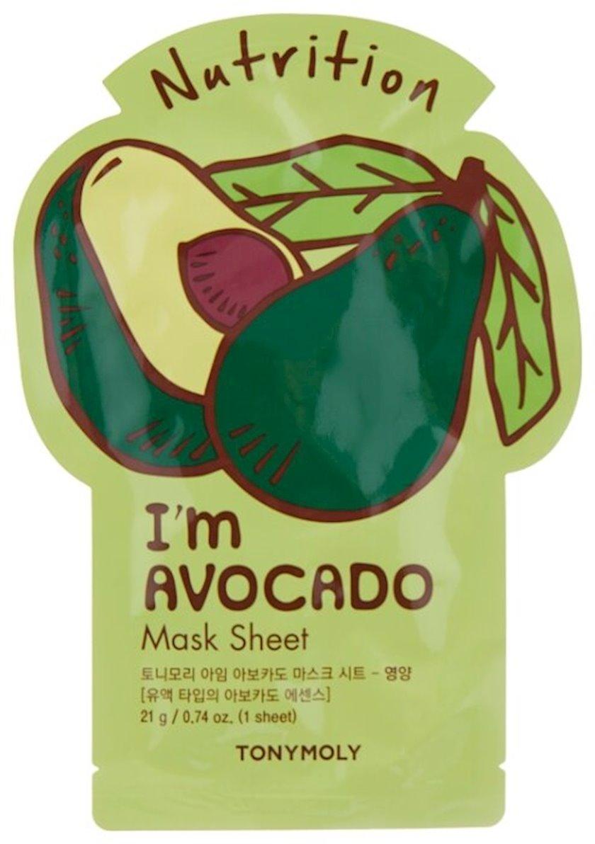 Parça maska Tony Moly I'm Real Avokado Mask Sheet