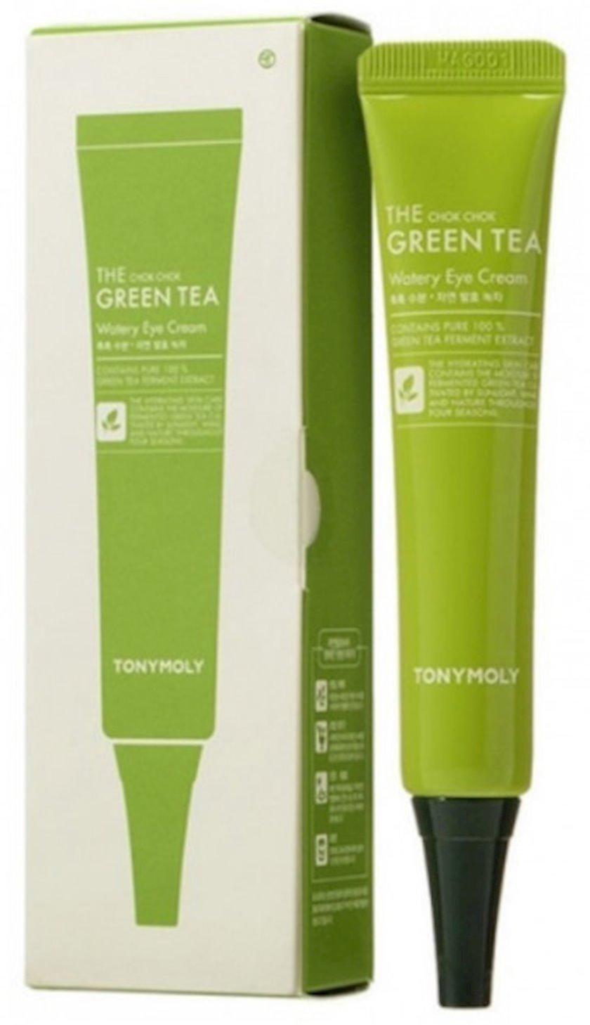 Göz ətrafında dəri üçün yaşıl çay ekstraktı ilə krem Tony Moly the Chok Chok Green Tea Watery 30 ml