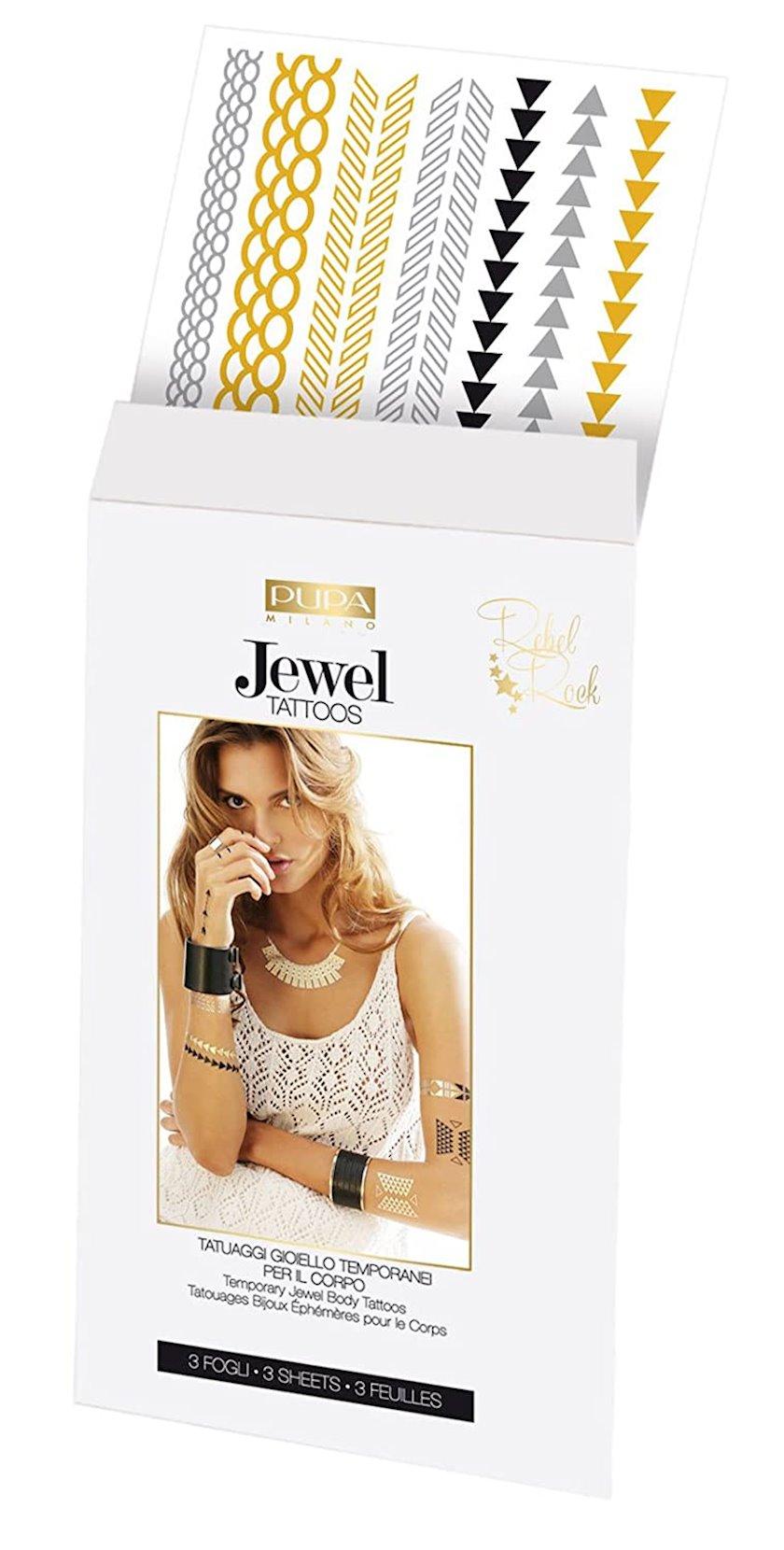 Bədənə qulluq üçün kosmetika dəsti Pupa Jewel Tattoos 002 Rebel Rock