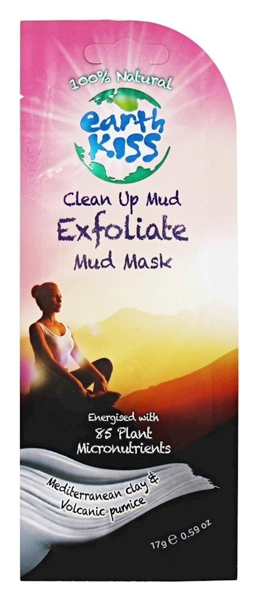 Üz üçün maska Earth Kiss Clean Up Exfoliate Mud Mask, 20 qr
