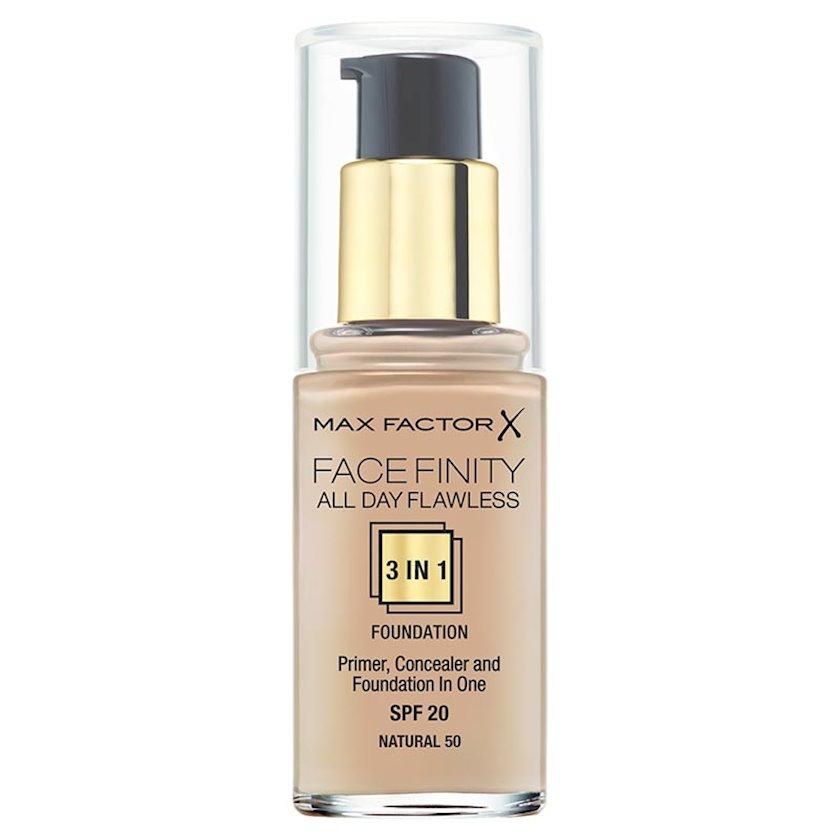 Tonal krem Max Factor Facefinity All Day Flawless SPF 20 3-ü-1 №50 Natural 30 ml
