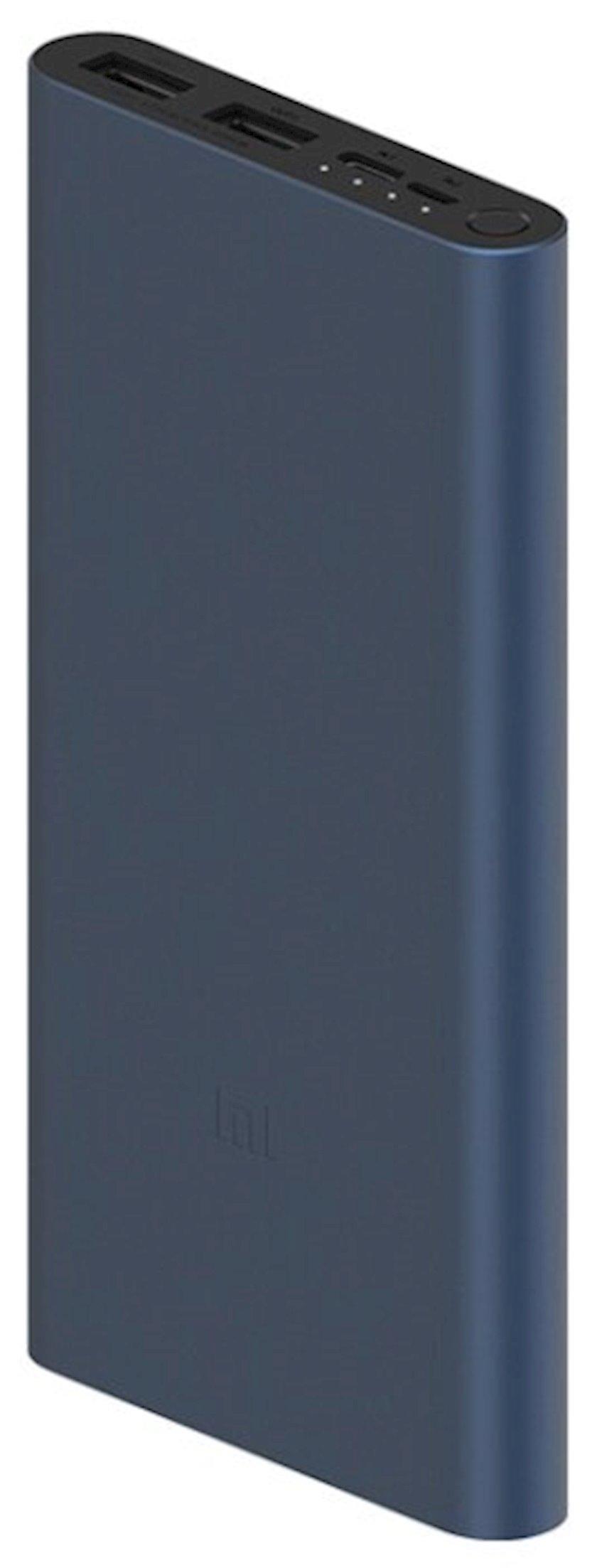 Xarici batareya Xiaomi Mi Power Bank 3 Fast Charge qara
