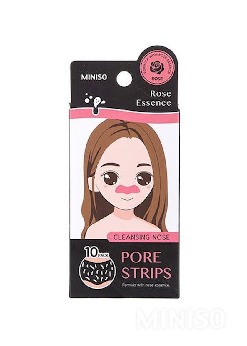 Burun məsamələrin dərin təmizlənməsi üçün Miniso Rose zolaqları