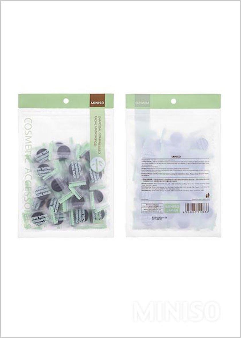 Üz üçün preslənmiş maska-tablet Miniso Bamboo Charcoal Compressed Mask