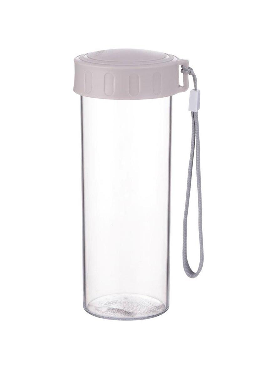 Klassik plastik su butulkası Miniso, 480 ml, Boz