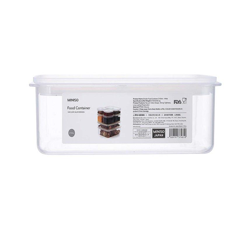 Konteyner Miniso, həcm 950 ml, çəki 165 q, rəng ağ