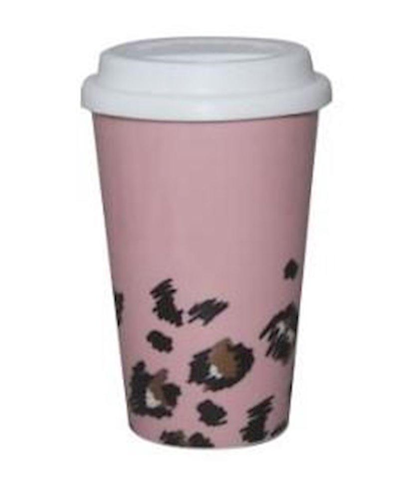 Kofe fincanı Miniso, seramik, bəbir çaplı