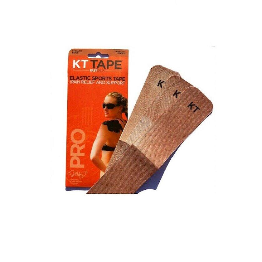 Kinesio-lent KT Tape Original Cotton, 3 zolaq Əvvəlcədən kəsilmiş, Bej, Ölçü universal