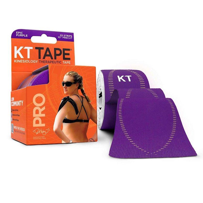 Kinesio-lent KT Tape Pro, 20 zolaq Əvvəlcədən kəsilmiş, Qara, Ölçü universal