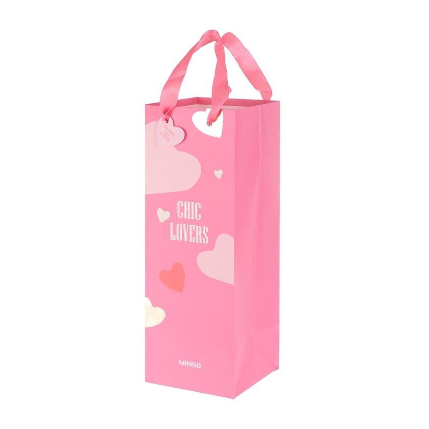 Hədiyyə çantası Miniso Valentine Chic Lovers Çəhrayı 12.3 х 34 sm