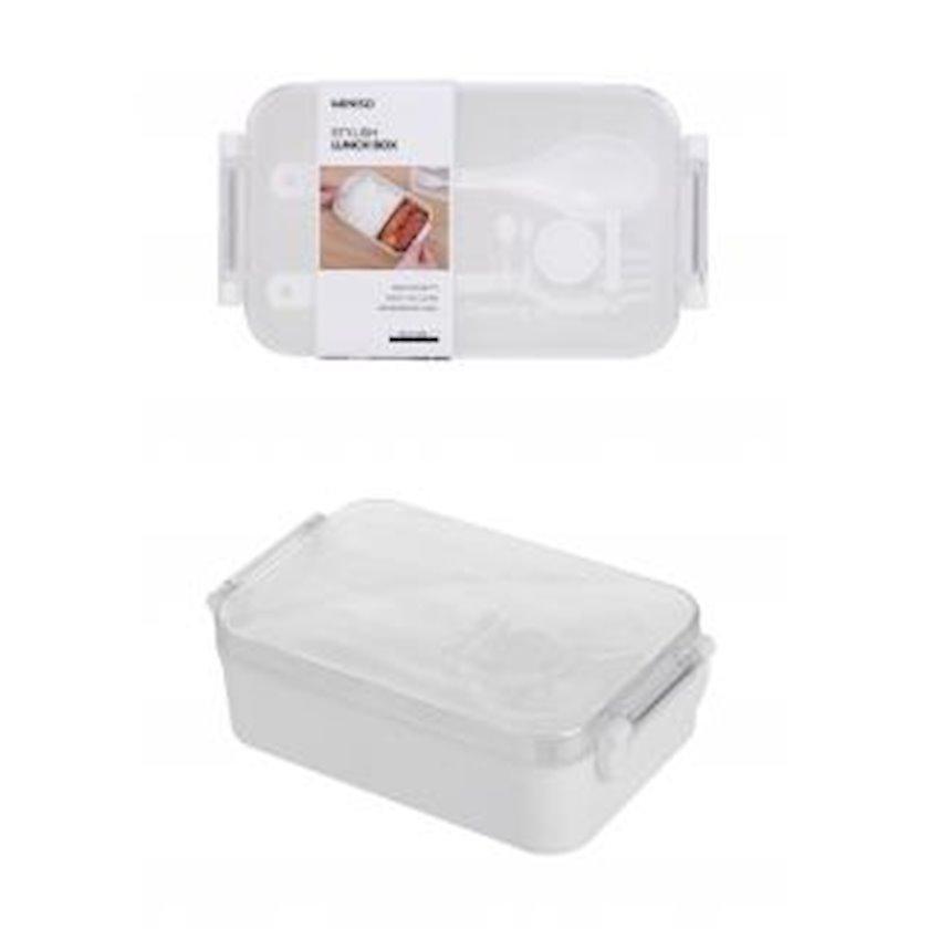 Qida üçün konteyner Miniso Simple and Stylish Lunch Box, Ağ